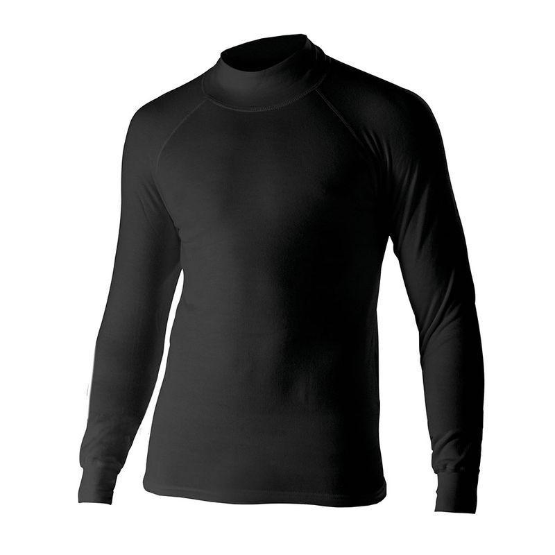VARIOS Zwart Technotransbinnenshirt met lange mouwen M ZWART