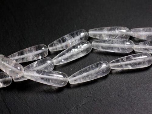 45585500 Cristal de Roche Quartz longue Goutte 30x10mm 1pc Perle de Pierre