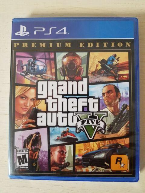 Grand Theft Auto V Premium Edition GTA 5 PS4 (Sony PlayStation 4, 2013)Brand New
