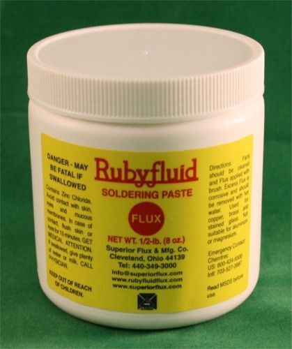 8 oz. Ruby Rubyfluid Soldering PASTE Flux for Stained Glass