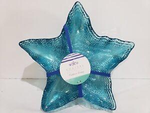 Coastal-Collection-Starfish-Nautical-Aqua-Blue-Acrylic-Salad-Plates-Set-Of-4