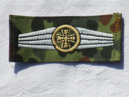 Bw Abzeichen Kompanie Feldwebel khaki //silber auf  flecktarn 40x95mm