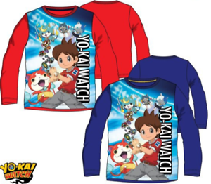 Kids Boys//Girls Official Disney Characters YO-KAI Long SleevesT.Shirt Top 3-8YRS