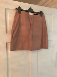 Leather-Look-Mini-Skirt-Size-10
