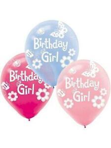 Birthday Girl Garden Butterflies Flowers Balloons Decoration Party Events x 6