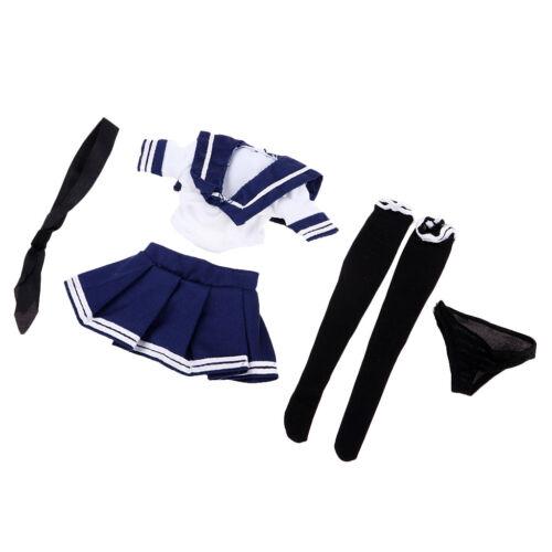 """Uniforme blu bianca JK della scala 1//6 per 12 /""""Phicen TBLeague Female"""
