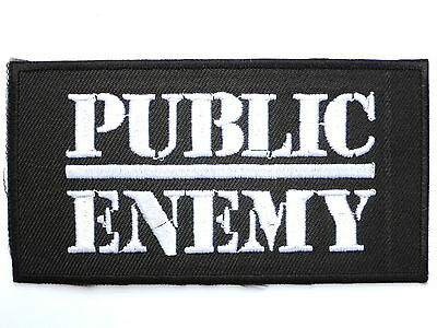 PUBLIC ENEMY ROCK HEAVY Embroidered Patch Iron Sew Logo music band thrash metal