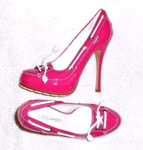 DSQUArojo2 Escarpins cuir verni rosado P 39 = 38 ½ ½ ½  neufs  barato y de moda