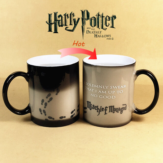 Harry Potter Mischief Managed Heat Color Changing Mug