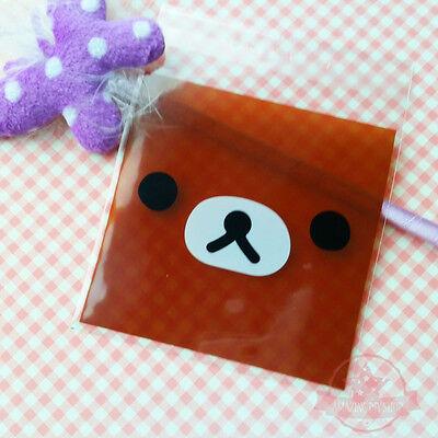 15 pc Rilakkuma Face 7cm x 7cm Plastic Jewelry Cookie Packing Bags