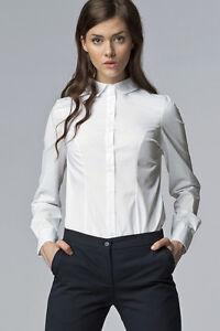 Chemise-Blanche-femme-manches-longues-haute-qualite-K43-Nife-36-38-40-42-44