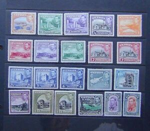 Cyprus-1938-51-set-complete-to-1-MM-SG151-163