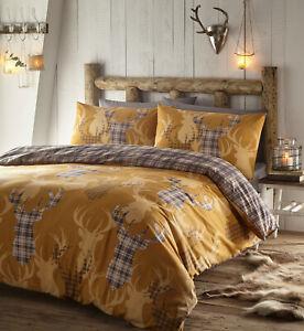 Mustard Yellow Flora Double Duvet Bedding Set Quilt Cover 2 Pillowcases Bedding