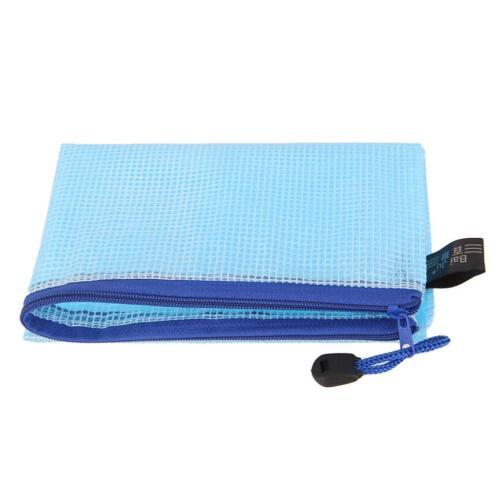 12Pcs Waterproof A4 File Storage Zipper Bags Document Folder Holder Pouch Wallet