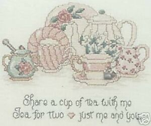 Tea-For-Two-Cross-Stitch-Chart-With-Charm