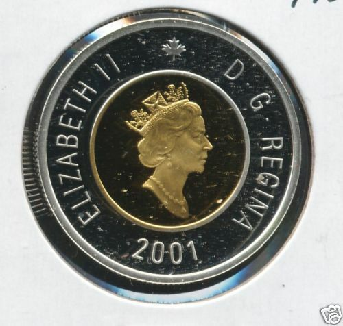 2001 Proof Silver $2 Coin From a Proof Set