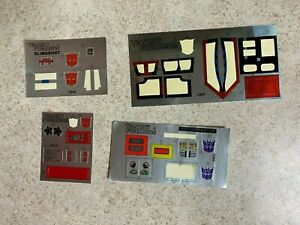 Hasbro 1980's Vintage G1 Transformers Partially Sticker Sheets Decals Lot #2