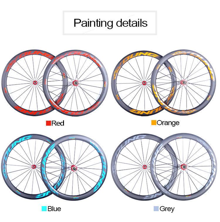 Full Carbon  Fiber Road Bicycle Wheels 50mm 25 width Bike Wheelset Clincher  the newest brands outlet online