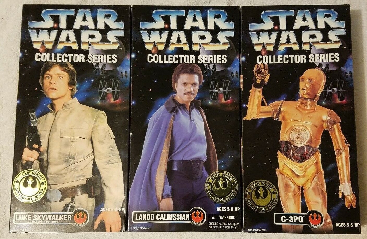 3 Lot Kenner Star Wars Collector Series 12  MIP Bespin-Luke Lando C-3PO Sealed