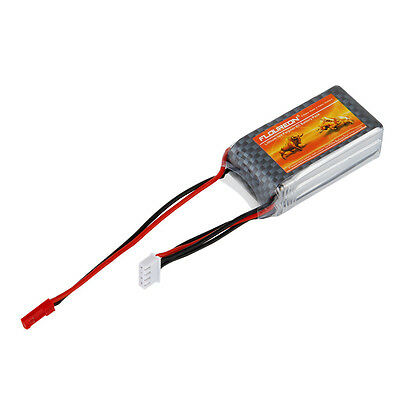 FLOUREON 1000mAh 3S 25C Lipo RC Battery JST for RC Helicopter / Airplane / Hobby