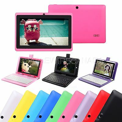 """7"""" Android 4.4 8GB A33  WIFI Quad Core Dual Camera Tablet PC & Keyboard FOR KIDS"""