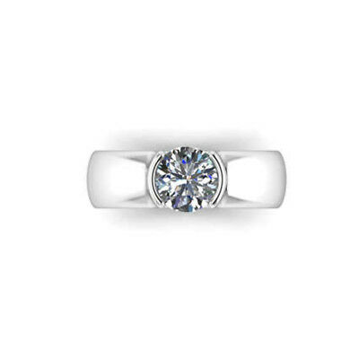 Dedicated 0.40 Ct Certified Real Diamond Engagement Ring 14k Solid White Gold Size N M J K Fine Rings Jewellery & Watches