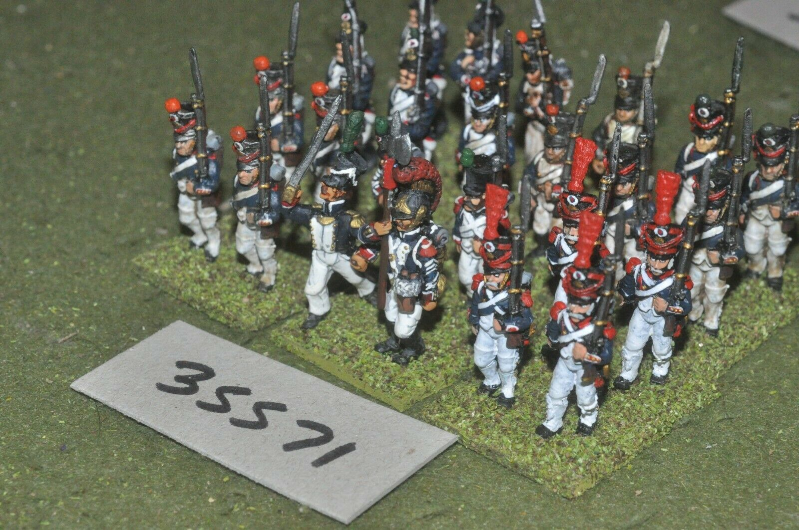 25mm napoleonic   french - regiment 24 figures - inf (35571)
