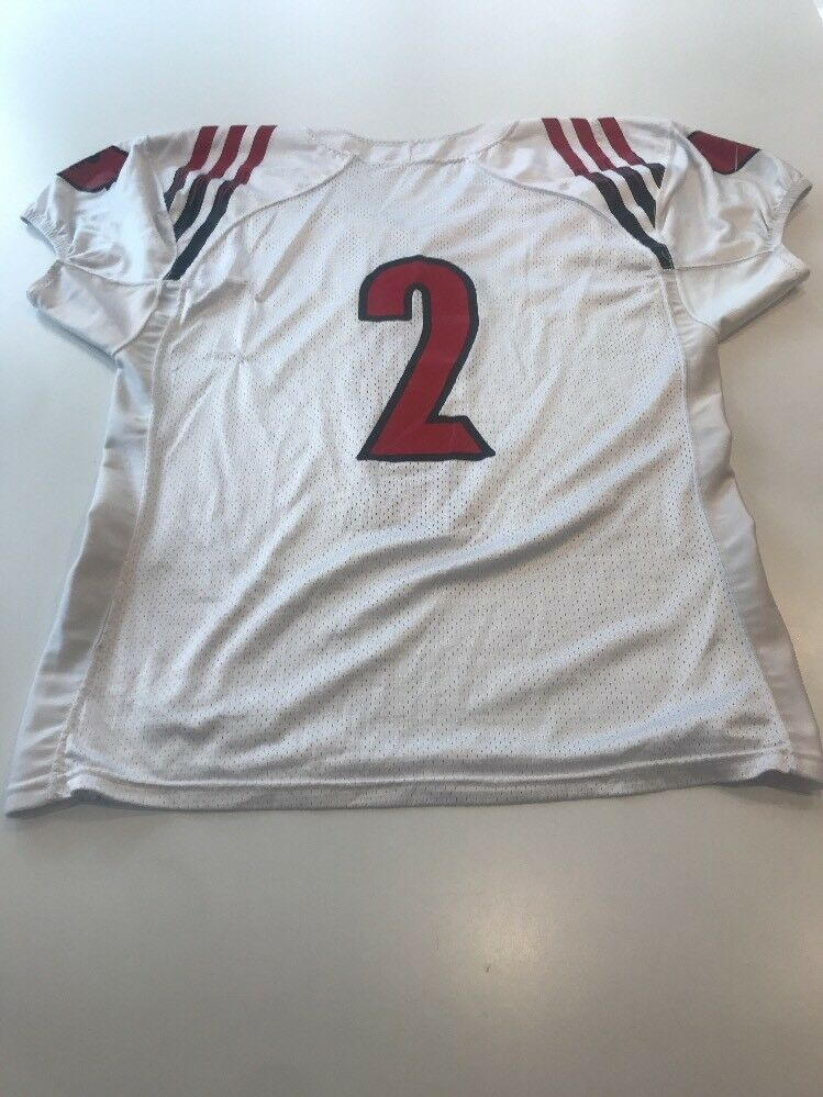 the best attitude 313e1 6b0b4 ... Game Worn Used Louisville Cardinals UL Football Football Football  Jersey Adidas Size 48 7013c3 ...