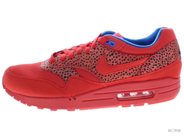 NIKE WMNS AIR MAX 1 319986-661 chllng red chllng rd-bl spphr Size 12
