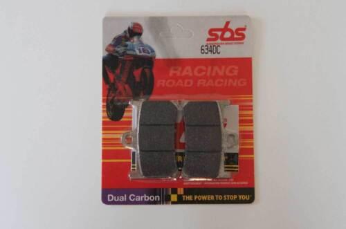 Sbs 634 DC plaquette de frein racing carbone yamaha r1 r6 avant pair of racing Brake pads