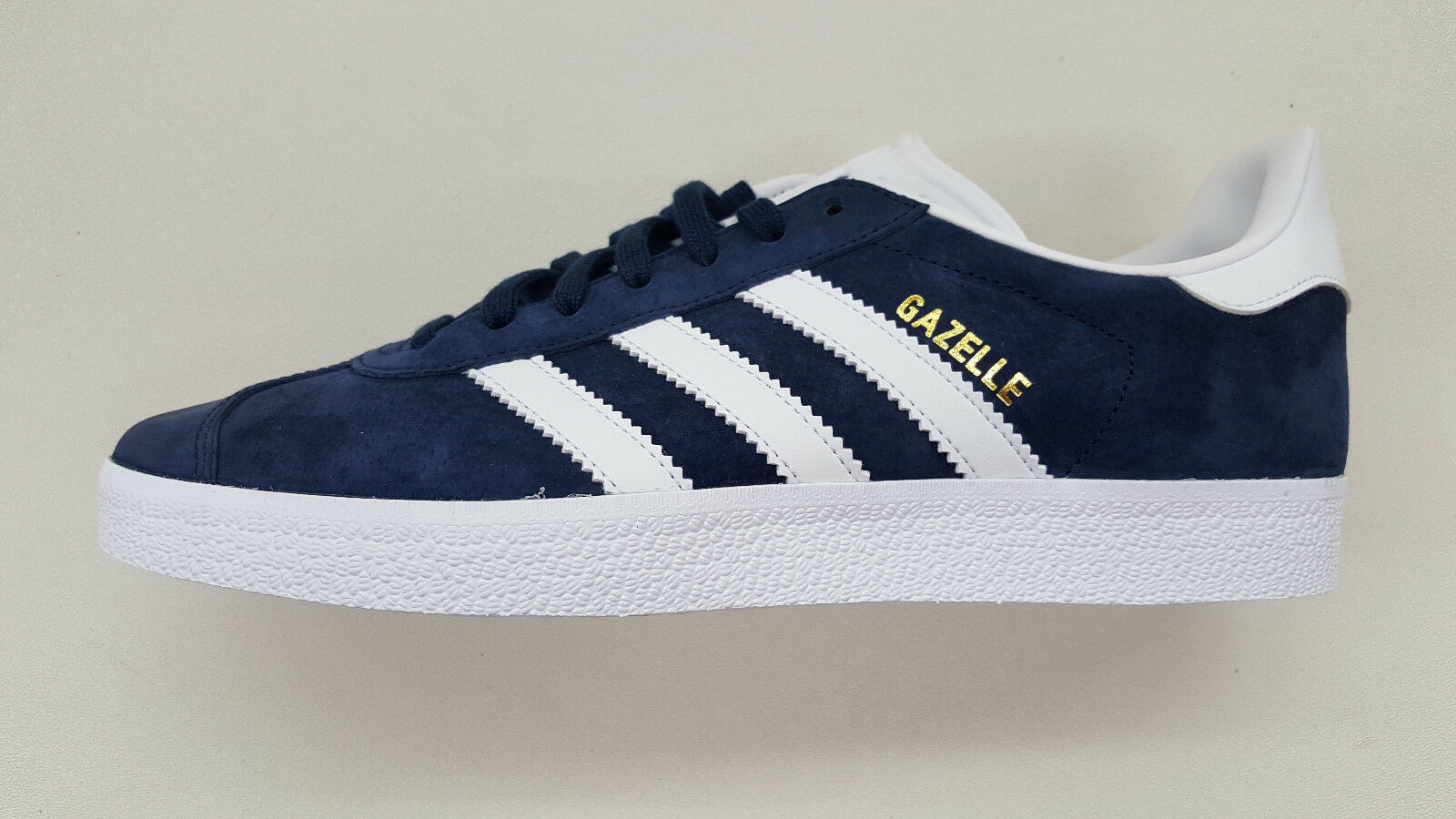 huge selection of 701c9 bc1cc ADIDAS ORIGINALS GAZELLE NAVY BLUE WHITE GOLD MENS SIZE CASUAL SNEAKERS  BB5478 high-quality