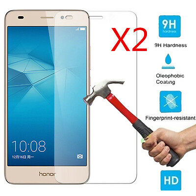 2Pcs 9H+ Premium Tempered Glass Screen Protector For Huawei Honor 7 Lite / 5C