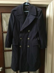 Details about 1960s US Air Force 100% WOOL OVERCOAT Military Uniform Cold War Size 35R Vintage