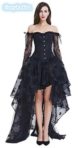 Ladies Burlesque Party Saloon Can Can Show Girl Tutu Skirts Black 6-22 AU