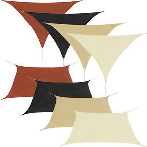 sonnensegel sonnenschutz wind regenschutz uv schutz wasserdicht mehrere auswahl. Black Bedroom Furniture Sets. Home Design Ideas