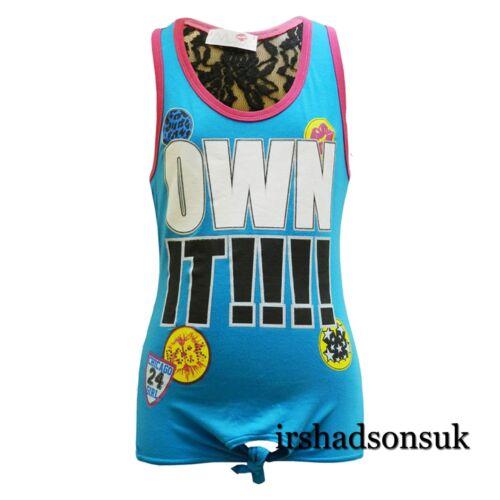 Print Multi Color Fashion Stylish Vest Top T Shirt 7-13 Yr Kids Girls OWN IT !!