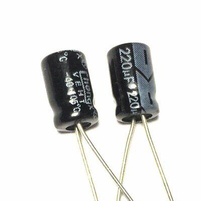 20pcs 16v 220uf 220mfd 105c aluminum electrolytic capacitor 6×7mm radial