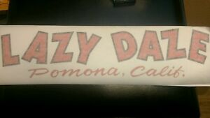 Lazy-Daze-Travel-Motorhome-Vintage-Style-Repro-decal-red-amp-black-17-034-diecut