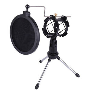 Foldable-Desktop-Microphone-Trepied-stand-with-Shock-Mount-Mic-Holder-TPI