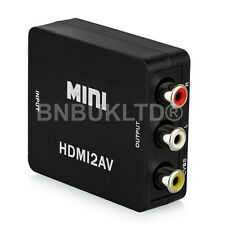 1080P Converter/Adapter/Connector HDMI to AV/Composite CVBS S-Video/RCA/NTSC/PAL