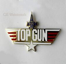 UNITED STATES NAVY USN TOP GUN LARGE LOGO PIN BADGE 2 INCHES
