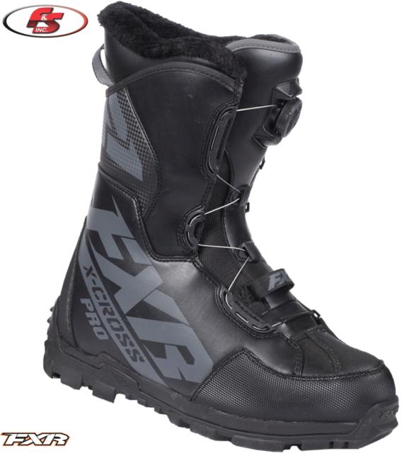 New 2020 FXR Men/'s X-CROSS PRO BOA Snowmobile Boots Black Ops