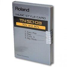 "Roland STYLE CARD TN-SC1-03 ""70's and 80's"" ROM For Roland RA 50, PRO-E, E30, E5"