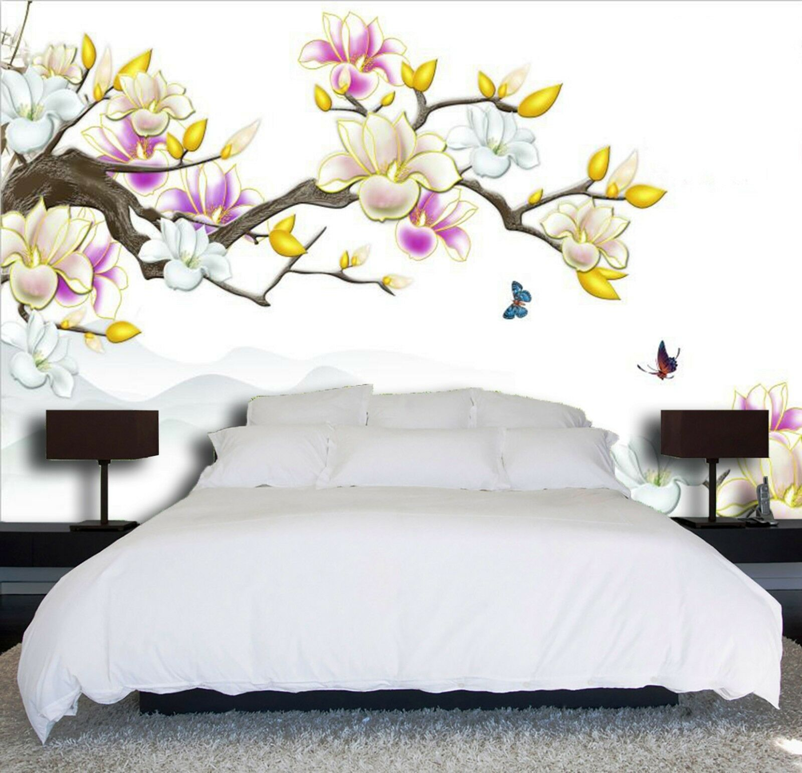 3D Peach blossom 6889 Wall Paper Wall Print Decal Wall Indoor Murals Wall US