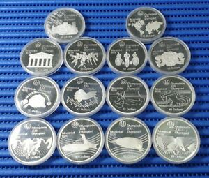 14X 1976 Canada Montreal XXI Olympiad Commemorative $10 Silver Proof Coin