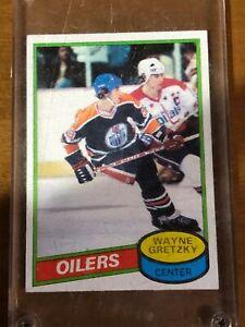 1980 Topps Wayne Gretzky #250 Edmonton Oilers 2nd year.  Card is Near Mint.