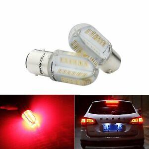 2x-P21-5W-BAY15d-8-COB-LED-Frein-Feu-Lampe-Stop-Clignotant-Ampoule-Rouge-12V-DC