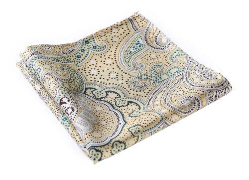 HN04Y Handkerchief 100/% Natural Silk Satin Mens Hanky Wedding Pocket Square