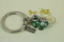 New Coach Swarvoski Crystal Frog Prince Enamel Crown Keyring Key Chain Fob 92448