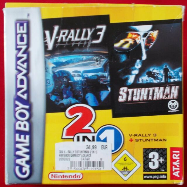 Gameboy Advance - GBA ► 2 Games in 1: V-Rally 3 + Stuntman ◄ OVP | TOP Zustand